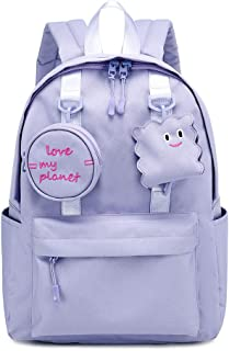 Cute Backpack for Women Travel Backpack Girls School Bookbags Women Backpack Casual Laptop Daypack College Student Backpack for Girls, Purple