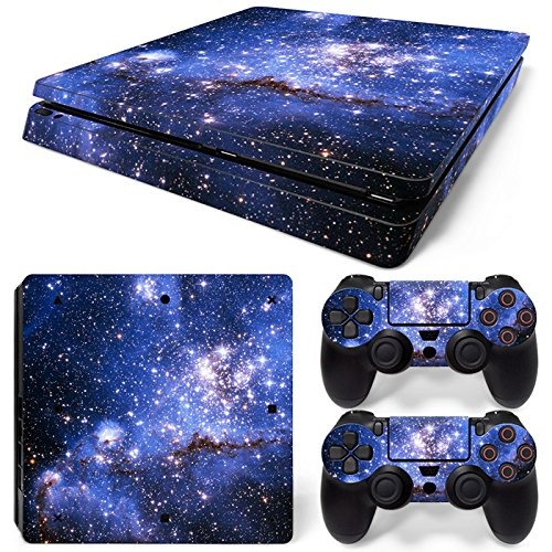 Mcbazel Pattern Series Decals Vinyl Haut Aufkleber für PS4 Slim (Blau Galaxy)
