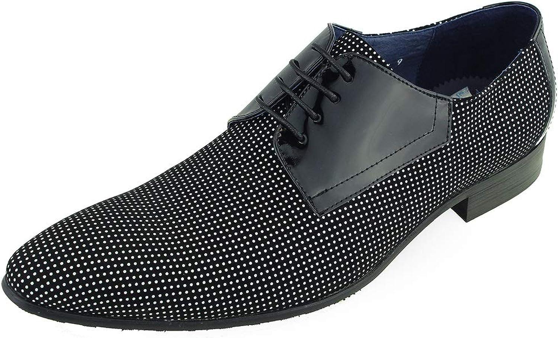 Beston Einzigartige Herrenschuhe für Herren Two Tone Oxford Loafer (Farbe   schwarz Weiß, Größe   45 EU)
