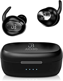 $45 Get Wireless Earbuds,Bluetooth Headphones 5.0 Deep Bass HiFi Stereo Sound Earphones 16H Playtime with Charging Case and Built in Mic for Sports Running (Black)
