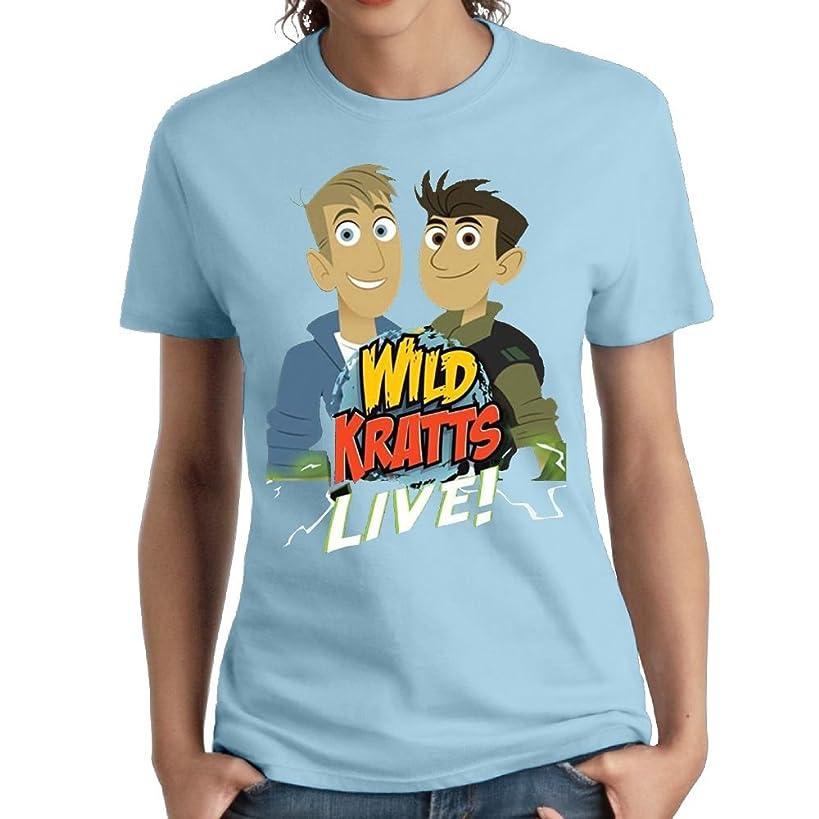 Erin Forman Womens Popular Celebrity Short-Sleeve T-Shirt Wild Kratts Logo SkyBlue