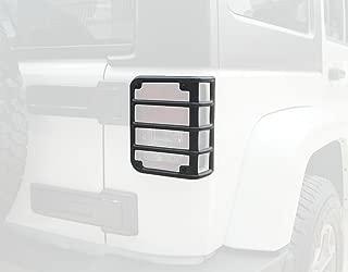Bentolin Matte Black Rear Euro Tail Light Guard Cover Protector for 2007-2017 Jeep Wrangler 2018 Sahara JKU New - Pair