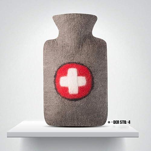 TD Grand Chauffe-Eau antidéflagrant de Bouteille d'eau Chaude d'injection d'eau de Manteau de Laine de Grand Confort Confortable (Couleur   4)