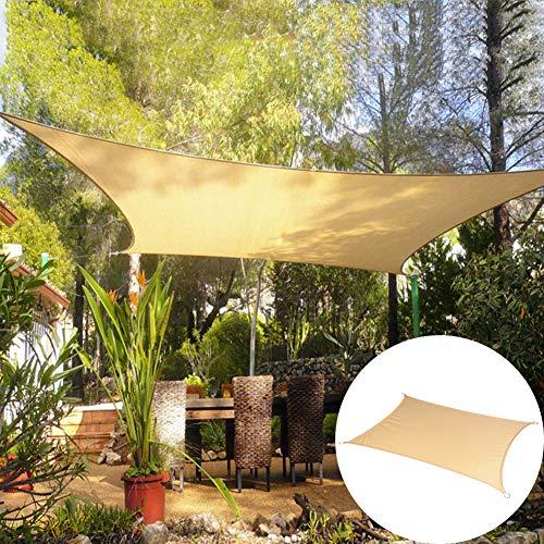 LRZ Rechteckiges Schattennetz Schattentuch UV-Schutz 95% Sonnenschutz/Atmungsaktiv/Reißfest Für Outdoor Patio Garden Hinterhof Rasen, Sand,4 * 5m/157.1 * 196.9in