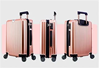 20//24 inch Huijunwenti Hard Rotating Suitcase Best Gift Travel Organizer Carry-on Luggage Silver The Latest Style Trolley case Simple Color : Blue, Size : 24
