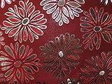 Floral Gewebe der Metallic Brokat Kleid Dark