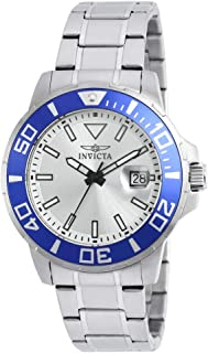 Invicta Men's Pro Diver Quartz Watch with Stainless-Steel Strap, Silver, 22 (Model: 21569)