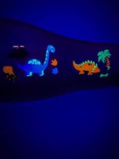 Temporary Dinosaur Tattoos | Daytime and Blacklight UV Tattoos | 38 Individual Colored Temporary Tattoos by Festival World