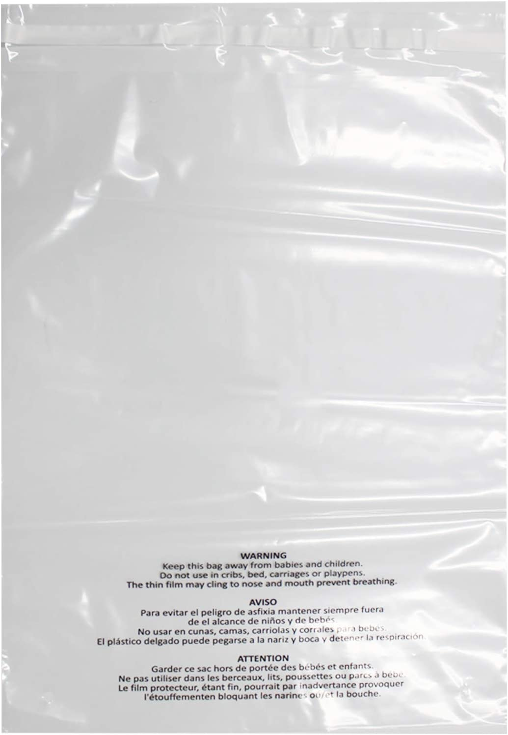 depot Belinlen 300 Count Choice 9x12 Inch Self Poly Bags Clear with Suff Seal