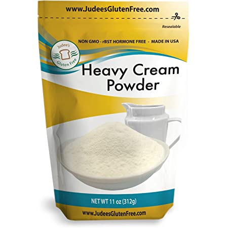 Judee's Heavy Cream Powder (11 oz) - GMO and Preservative Free: Produced in the USA: Keto Friendly, Add Healthy Fat to Coffee, (24 oz also) Freshness Locked in Package