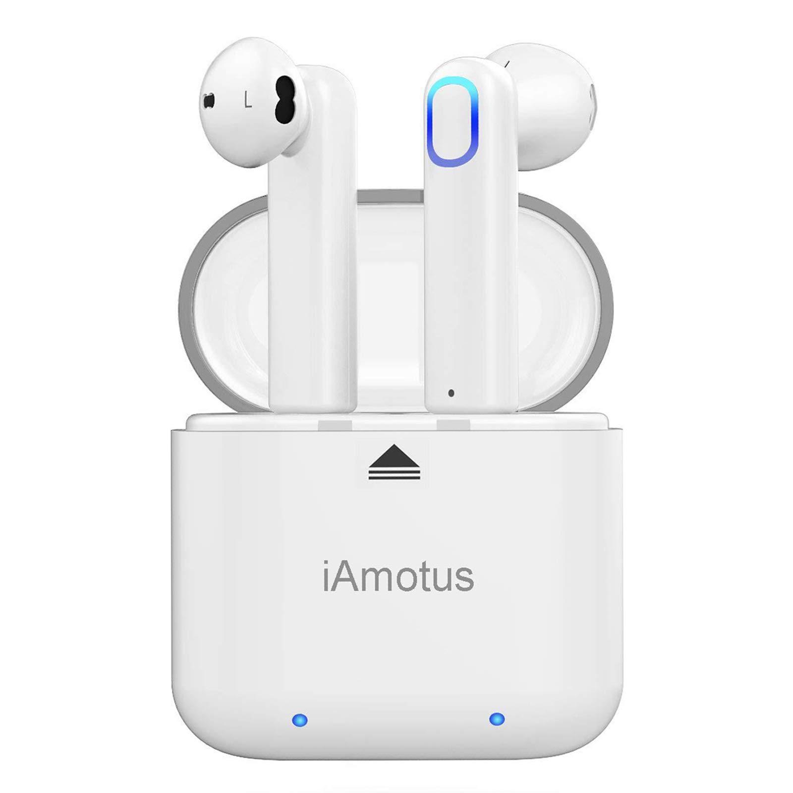 Auriculares Bluetooth, iAmotus Auriculares Inalámbricos Bluetooth 5.0 In-Ear Deportivos Auriculares TWS Wireless Bluetooth Control Rapida Resistente al Agua con Caja de Carga para iPhone y Android: Amazon.es: Electrónica