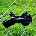 Patriot Chain Link Insulator Extender Poliwire Steel Aluminum Wire Black 25 Pack