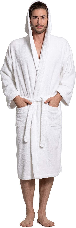Turkuoise Men's Turkish Terry Cloth Thick Hooded Robe shopping Bathrobe Ranking TOP2