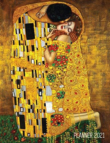 Gustav Klimt Planner 2021: The Kiss Daily Organizer (12 Months) - Romantic Gold Art Nouveau / Jugendstil Painting - For Family Use, Office Work, ... - December - Austrian Art Monthly Scheduler
