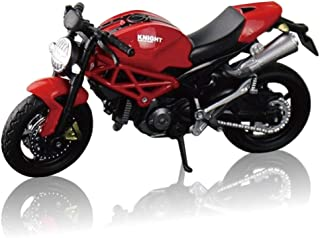 morytrade バイク オートバイ おもちゃ ネイキッド パイプフレーム バイク 模型 ダイキャスト 1/18 (赤)