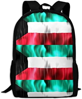 Colorful Kuwait Flag Adult Travel Backpack School Casual Daypack Oxford Outdoor Laptop Bag College Computer Shoulder Bags