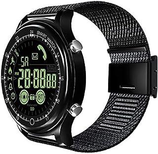 XNNDD Hombres y Mujeres Reloj Deportivo Inteligente Cristal Reloj Deportivo a Prueba de Agua Reloj recordatorio de información de Llamada