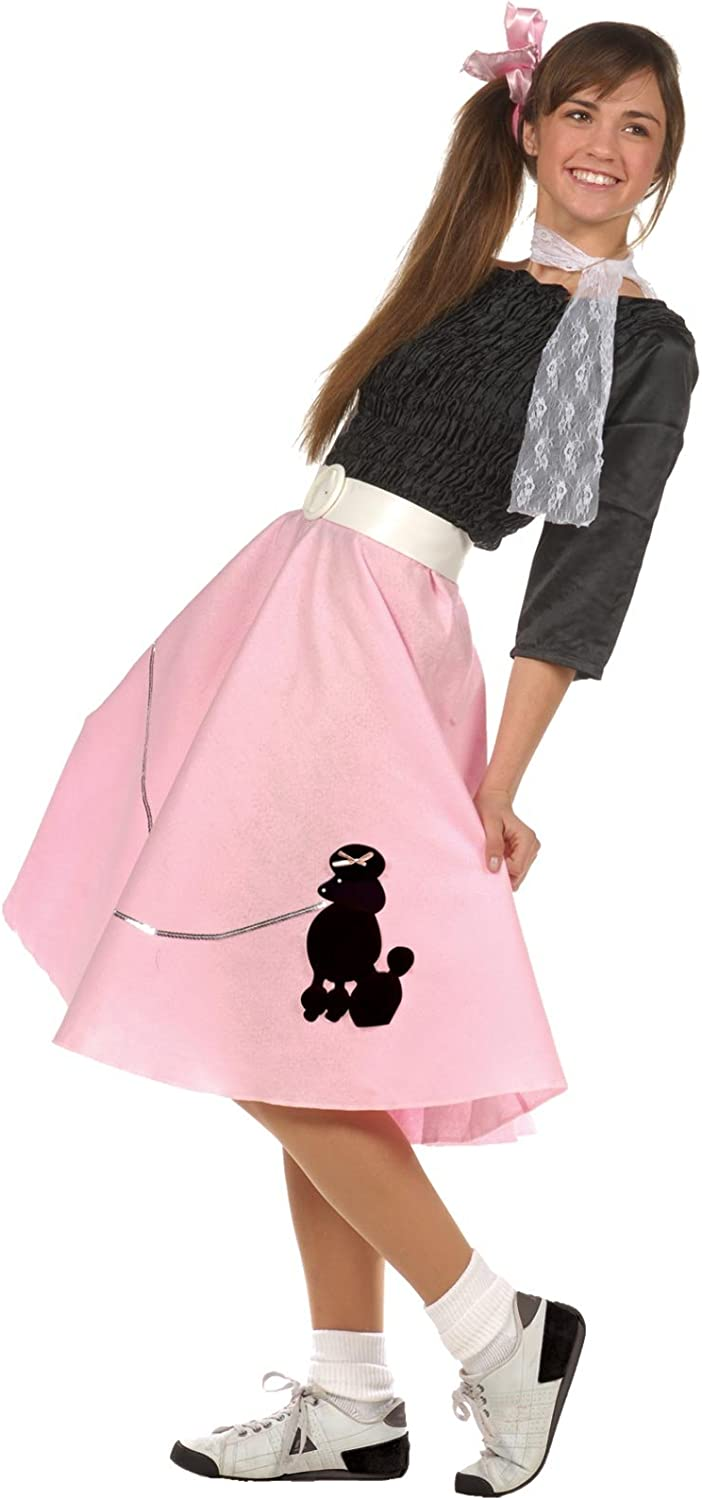 Choose sizecolor 3 pc 50/'s POODLE SKIRT OUTFIT for Youth 10 12 14 16