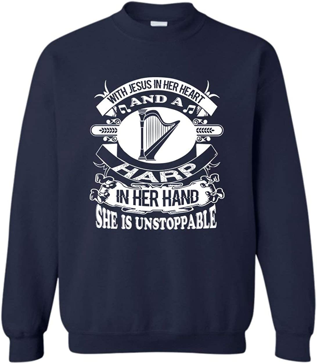 Girl Loves Harp and Jesus Men Women Award Sweatshirt Shir Long Sleeve Max 40% OFF