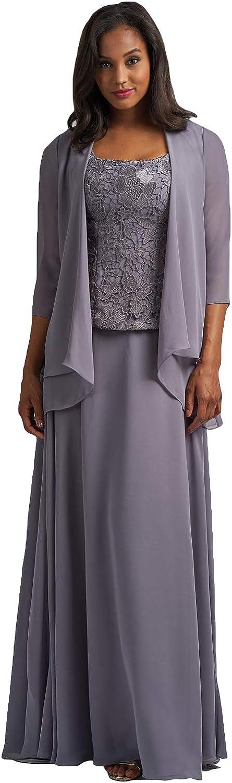 Fenghuavip Elegant Mother of Bride Dress Floor Length Lace Prom Formal Dress