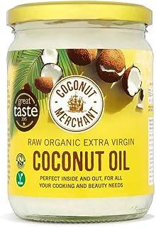 Aceite de coco orgánico Merchant 500 ml | Virgen extra, cruda, prensado en frío, sin refinar | Fuente ética, vegano, cetogénico y 100% natural – 500 ml