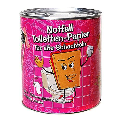Toilettenpapier in Dose