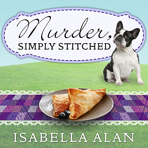 Murder, Simply Stitched audiobook cover art