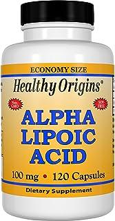 Healthy Origins Alpha Lipoic Acid Multi Vitamins, 100 Mg, 120 Count