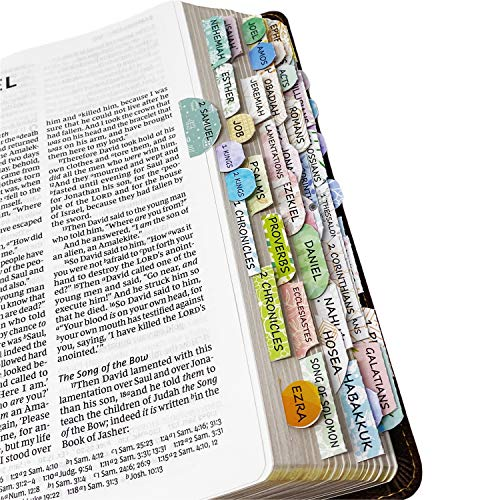 Mr. Pen- Bible Tabs, 72 Tabs (66 Books, 6 Blanks), High Gloss Paper, Bible Journaling Supplies, Bible Tabs Old and New Testament, Bible Tabs for Women, Bible Tabs for Journaling Bible, Bible Book Tabs