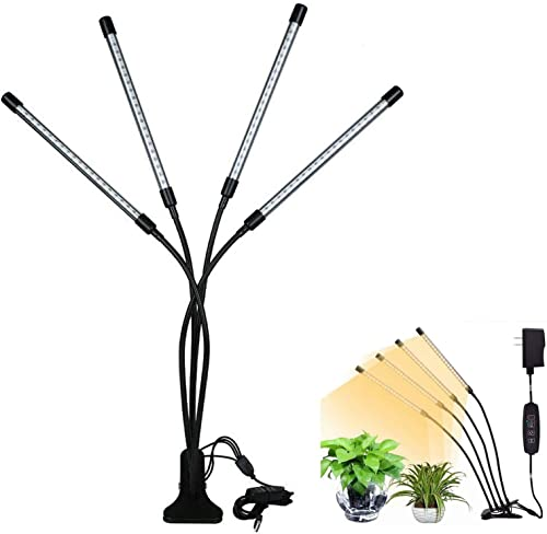 discount LED 2021 2021 Grow Light with 4 Head, Flexible Gooseneck, 10 Dimmable Levels, Plant Grow Lamp for Indoor Plant with Red Blue Full Spectrum, 3/6/12H Timer Auto On/Off for Plant Seedling Greenhouse Vegetable online