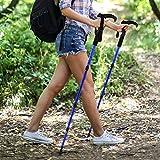 Meiyya Bastones de Trekking para Ancianos Bastón, telescópico, Ligero, Antideslizante, bastón para Caminar, bastón Plegable para Exteriores, para Senderismo