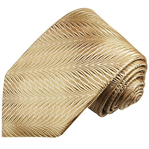 Cravate homme or marron 100% soie