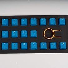TaiHao Conjunto de teclas de borracha TPR retroiluminadas para teclado mecânico Cherry MX compatível com OEM, Sky Blue
