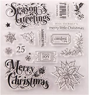 Christmas Snowflake Flower Clear Stamps for Card Making Decoration and Scrapbooking Rubber Stamp