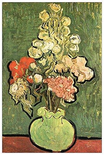 ArtPlaza Van Gogh Vincent vaas met rozen decoratiespaanel, hout, meerkleurig, 60 x 90 cm