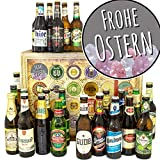 Frohe Ostern - Geschenke zu Ostern Mann - Bier der Welt und DE 24x / Bier Adventskalender