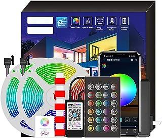 شريط إضاءة LED ذكية لشريط إضاءة LED وشريط تحكم صوتي لضبط الموسيقى 20 متر 360LED قابس أوروبي
