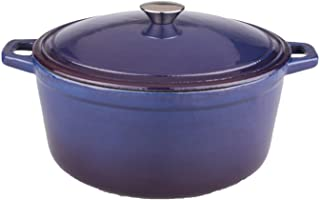 Berghoff Neo Cast Iron Stockpot with a Lid, Purple, 5-Qt.