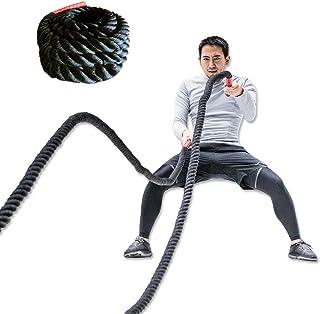 FIELDOOR バトルロープ トレーニングロープ ジムロープ スイングロープ 体幹トレーニング