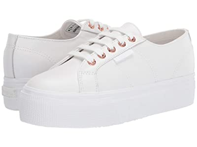 Superga 2790 Nappaleaw Sneaker (White/Rose) Women