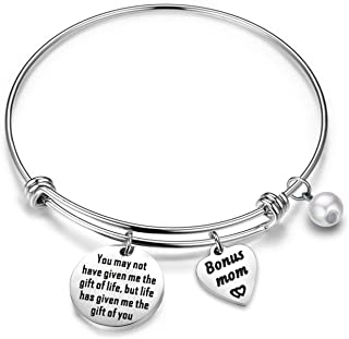 Gzrlyf Stepmother Bracelet You May not Have Given Me The Gift of Life Bonus Mom Gifts