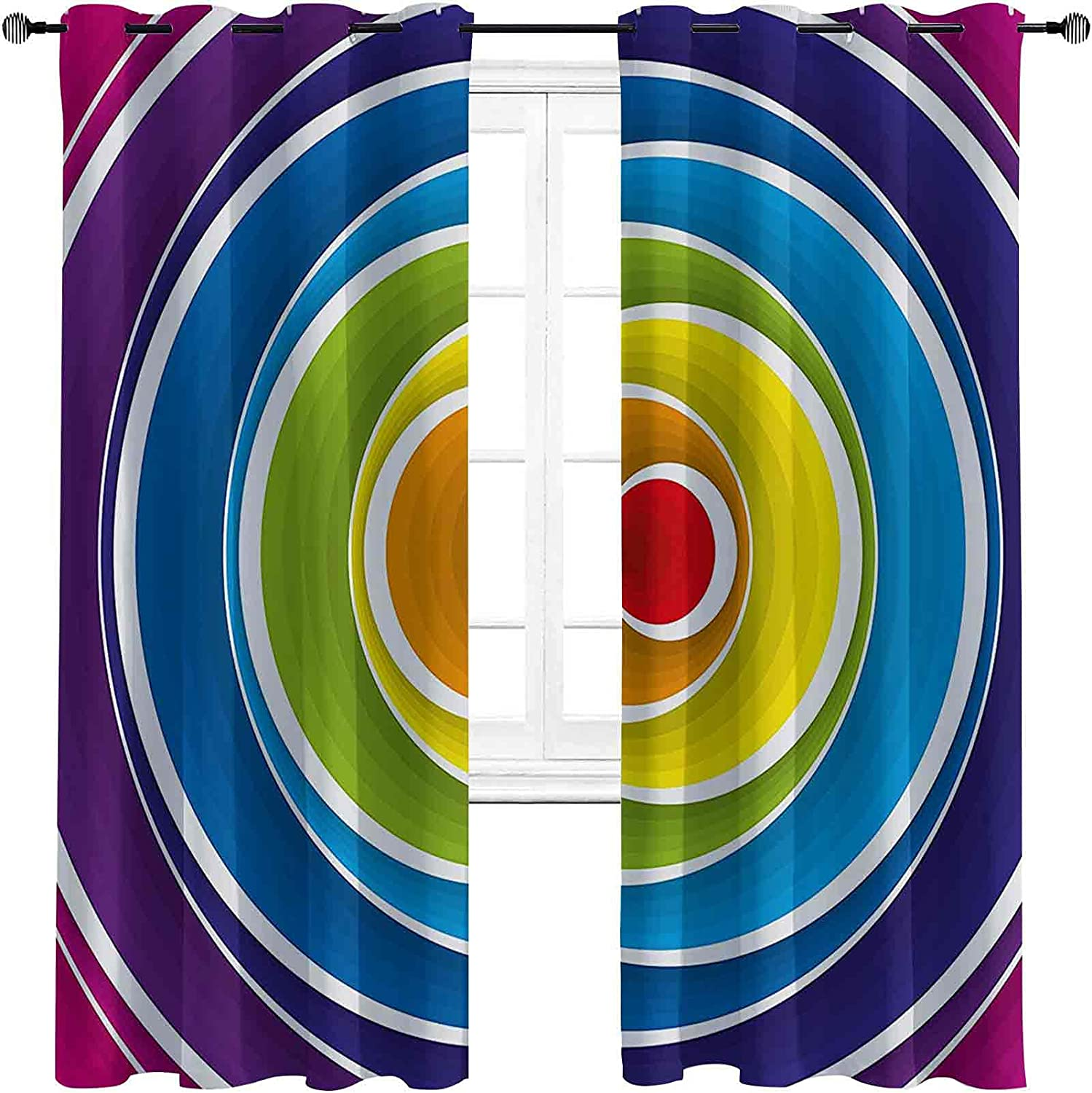Abstract Fees free!! The Living Room has Spiral Curtains Powerful Popular product Blackout