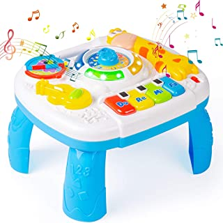 Subao Baby Toys 6 to 12 Months Activity Table Musical Learning Table 6 Months Up Kids Toddlers Infant Toys for 1 2 3 Years...