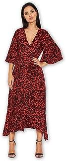 AX Paris Women's Floral Print Midi Wrap Dress