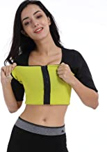 Ausom Womens Sweat Shaper T Shirt- Hot Thermo Slimming Shapewear- Exercise & Workout Sauna Suit- Best Abdominal Trainer- Upper Body Fat Burner with Zip for Weight Loss