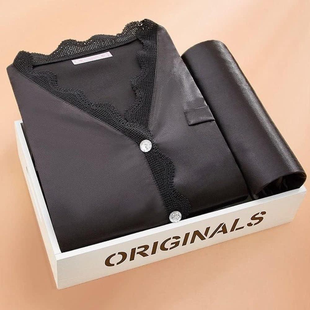 Fashionable discount SDCVRE Pajama Set 7PCS Pajamas Suit Sleeve Sl Pijamas Long Satin