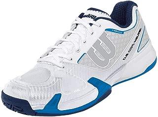 Rush Pro 2.0 White/Ice Gray/Neptune Blue Women's Tennis Shoes