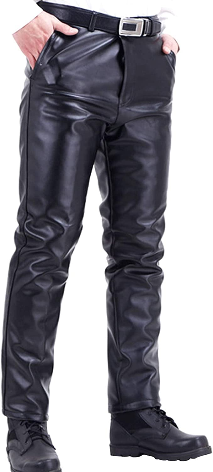 Stunner Men's Winter Plus Velve Pu Leather Straight Thick Limited Special Price Biker Max 72% OFF