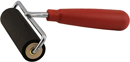 Speedball 4121 Deluxe Hard Rubber Brayer - 80 Durometer Roller With Wire Frame - 4 Inches