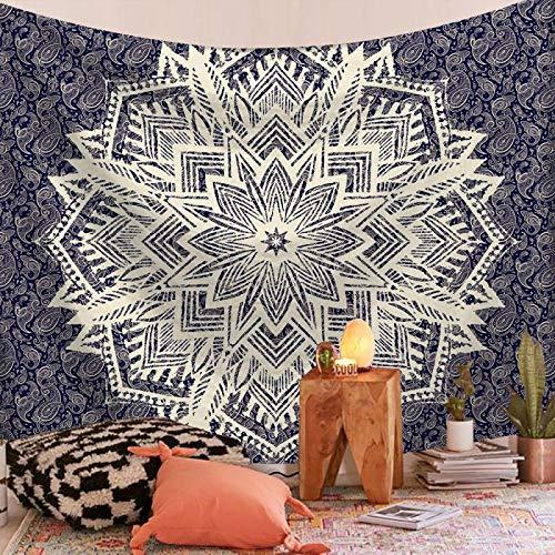Indian Mandala Tapestry Wall Hanging Sandy Beach Throw Rug Blanket Camping Tent Travel Mattress Bohemian Tapestries 90x59inch 25